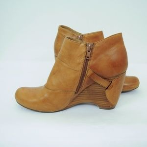 Miz Mooz Shoes - Miz Mooz Silas Wedge Booties Leather Buttons